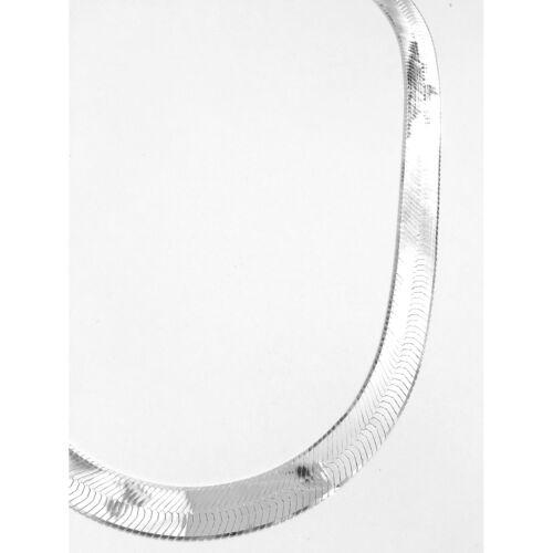 "ITALY Silver HERRINGBONE Chain Necklace//Bracelet MAGIC FLEX Chain 7/""~24/"""