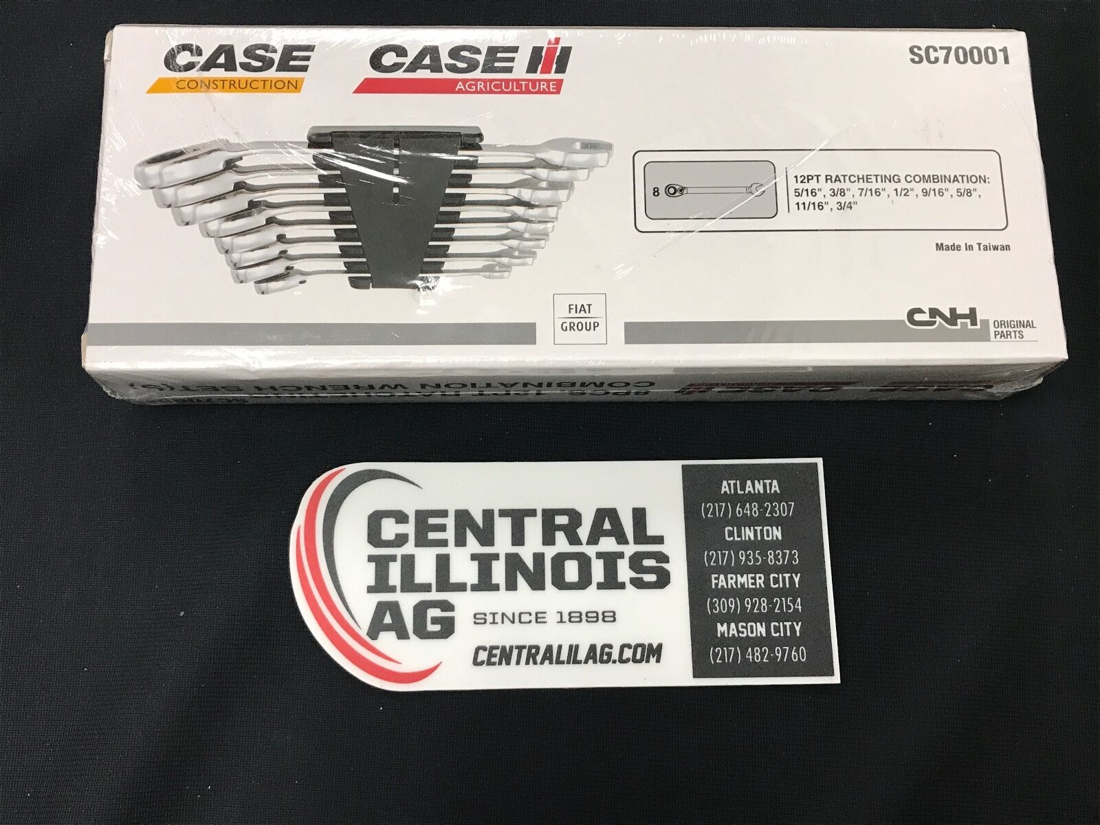 CASE IH 8-Piece Wrench Set made by Snap-on SC70001 Central IL Ag