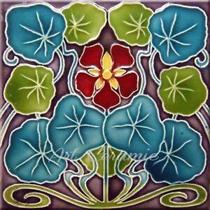 Art Nouveau Reproduction Decorative Ceramic tile 307