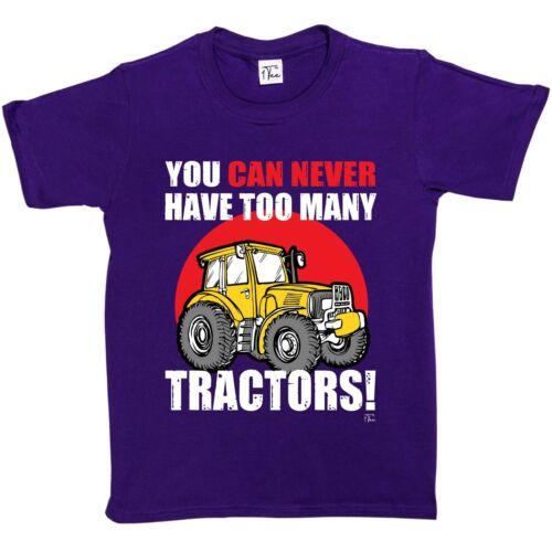 1Tee Bambine non potrai mai avere troppi TRATTORI AGRICOLTURA T-shirt