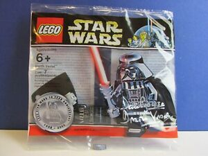 Signé par David Prowse Lego Star Wars, chrome, Darth Vader Minifigure Polybag Rare