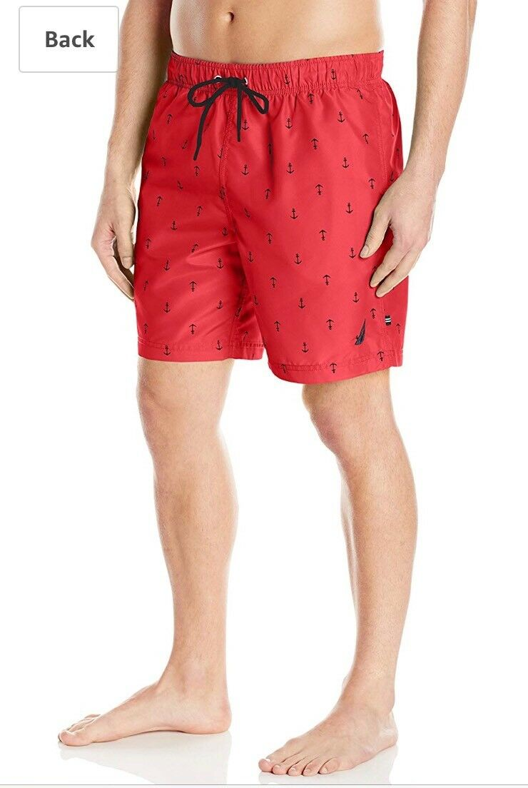 Nautica T71635 Anchor Print Swim Trunk L Value  Dollars