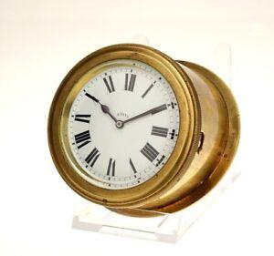Schiffsuhr-Mechanisches-Werk-8-Tage-Marine-Ship-Yacht-Clock-Borduhr-chronometer