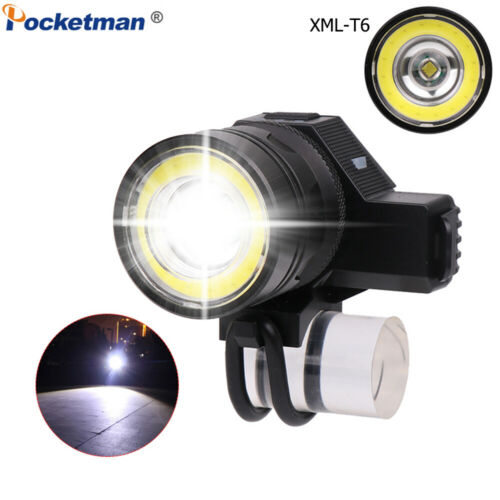 Powerful 55000LM COB+T6 LED Bike Light Rechargeable Bicycle Headlight Flashlight