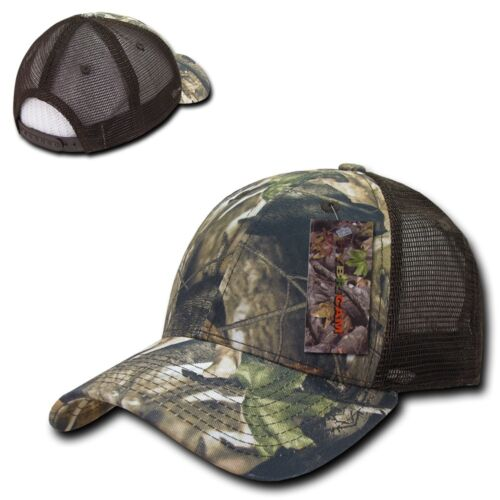 Decky Camo Camouflage Hunting Curved Bill Hybricam Trucker Baseball Caps Hats