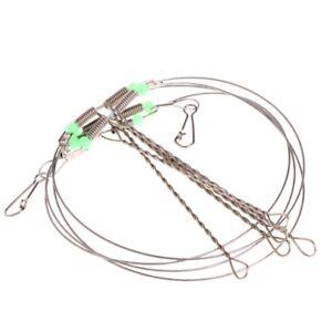 1 10pc Fishing Swivel String Hook Steel Anti Winding Rigs Wire