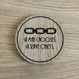 Details About Bioshock Inspired Wooden Coaster Man Chooses Slave Obeys Laser Cut Gift