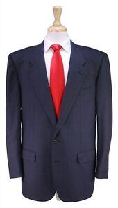 Belvest-Gris-Noir-Oeil-D-039-Oiseau-W-Rouge-Carreau-Super-100-039-s-Laine-2-Btn-Suit