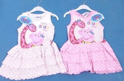 Clothing, Shoes & Accessories Alert New Girls Peppa Pig Polka Dot 'tutu' Style Summer Dress 2,3,4,5,6,8 Years Attractive Designs; Girls' Clothing (sizes 4 & Up)