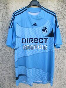 Détails sur Maillot OLYMPIQUE de MARSEILLE Adidas 2010 OM bleu away shirt jersey maglia XL