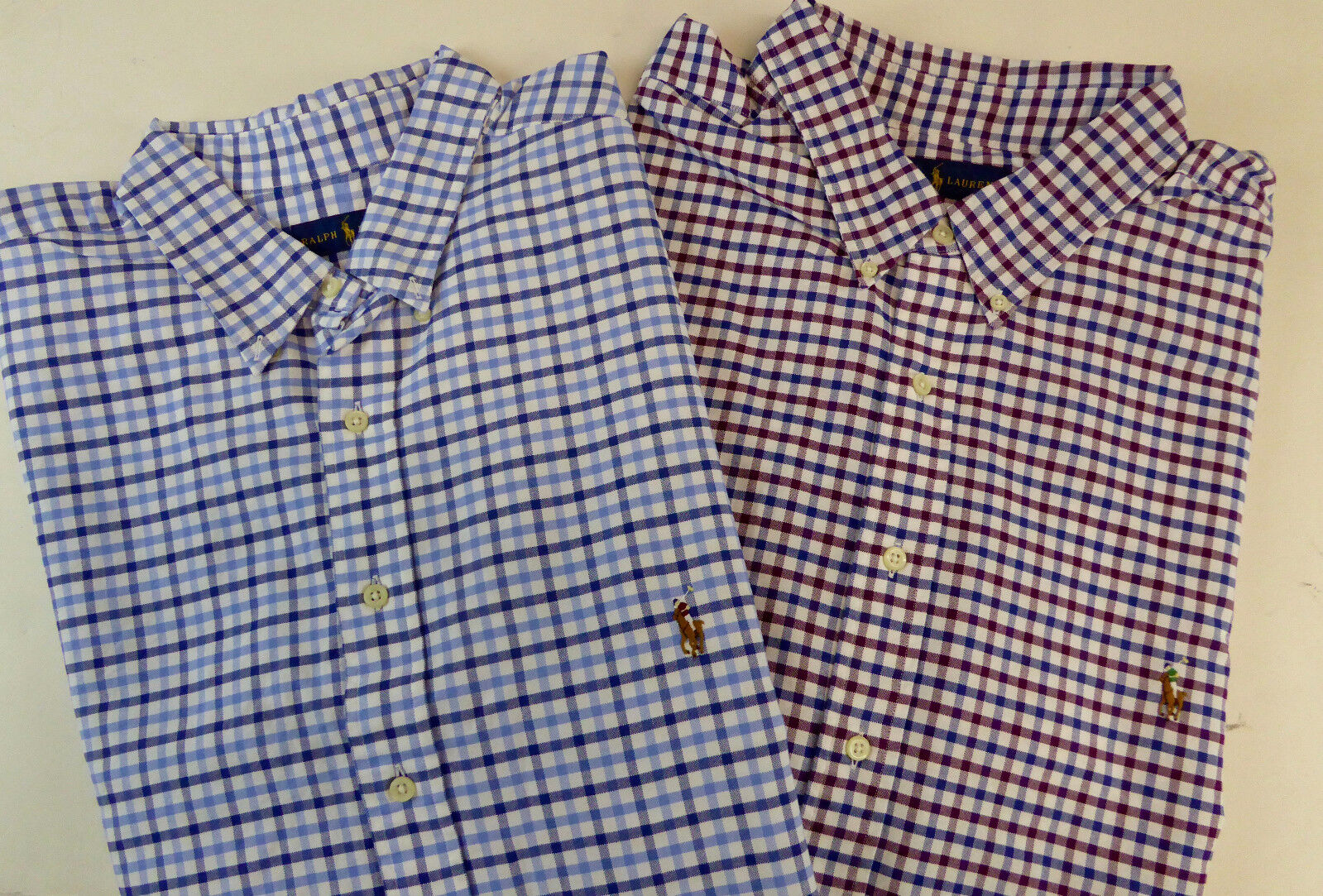Polo Ralph Lauren LS Tattersall Plaid Oxford Cotton Shirt w  Pony Logo  NWT