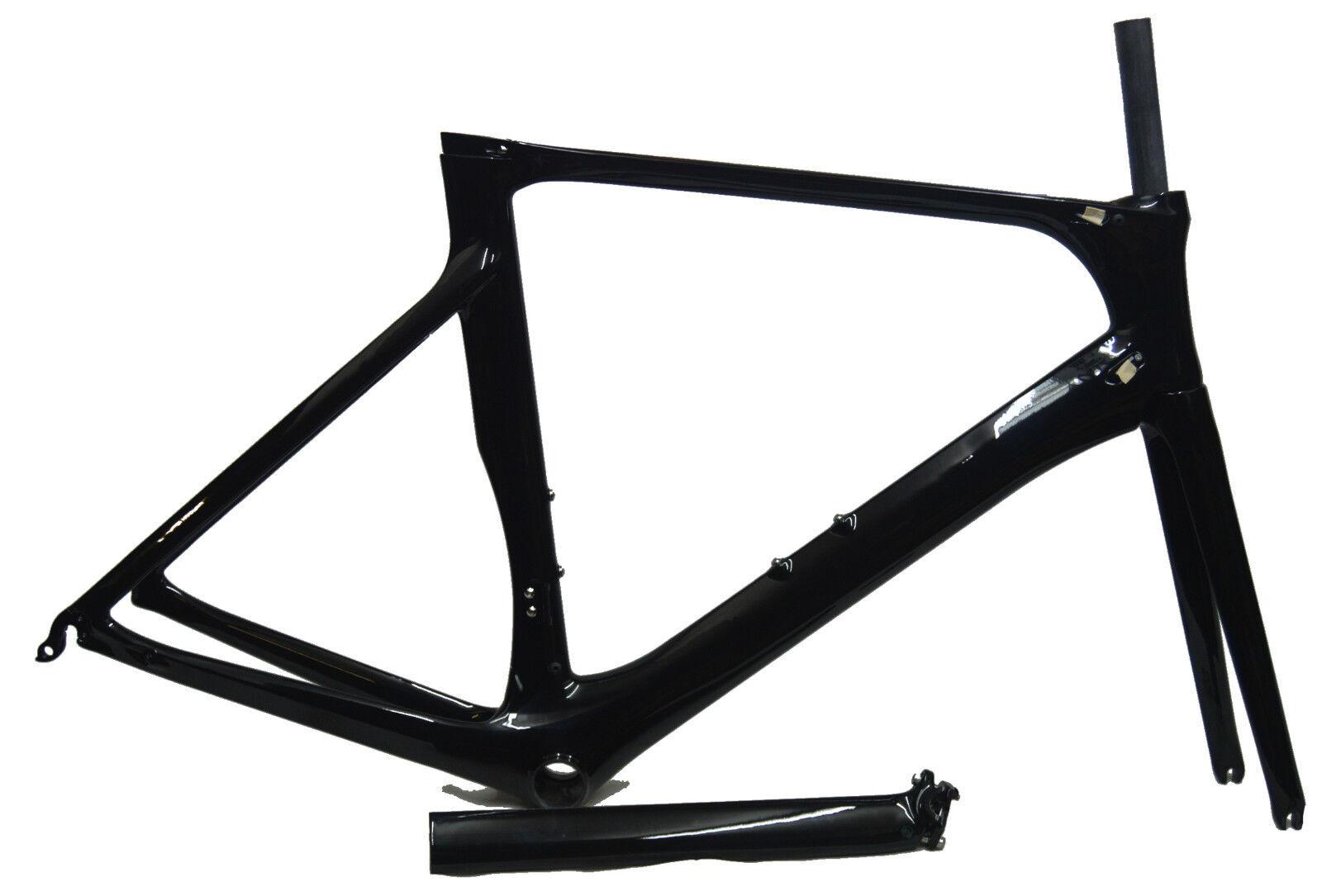 2 Gru pieno TELAIO IN CARBONIO Set 700c AERO road bike frame BB86 UD LUCIDO