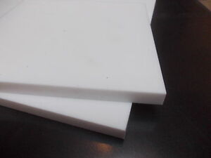 3MM THICK PTFE SHEET 300MM X 100MM WHITE TEFLON ENGINEERING MATERIAL HIGH TEMP