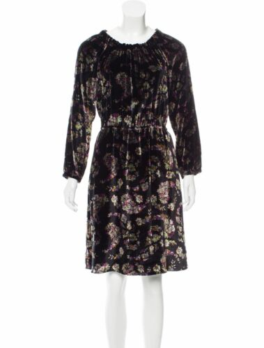 New Floral Print Dress Or 495 Rebecca Autumn Taylor Designer Uk12 Velvet S8 IXw1RxZPqn