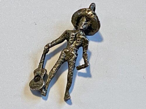 VTG Sterling Silver Charm Pendant Cowboy Hat Maria