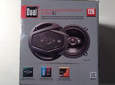 "Dual Electronics DLS524 5-1/4"" 4-Way Speakers 120 Watts (Plain Black Version)"