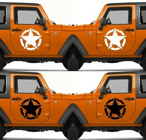 Set-of-2-US-U-S-America-Army-Military-Armed-Forces-Star-Vinyl-Decal-Sticker-V10