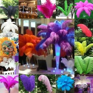 Wholesale 10/50/100pcs High Quality Natural OSTRICH FEATHERS 16-18inches/40-45cm