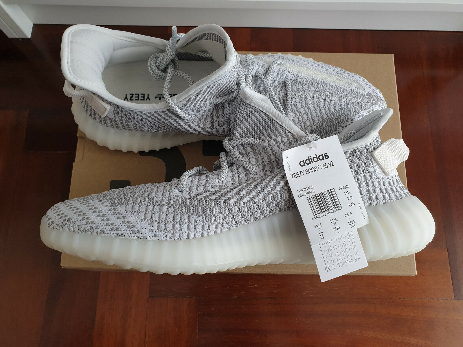 Adidas YEEZY BOOST 350 V2 STATIC NONREFLECTIVE Limited Edition Dimensione 46 23