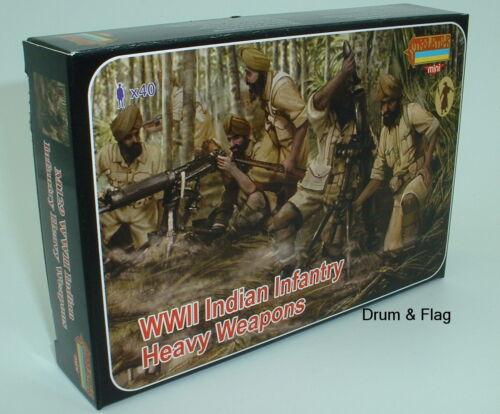 Strelets Set M 129 WWII Indian Army Heavy Weapons 1//72 Scale WW2