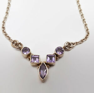 Sterling-Silver-Amethyst-Bezel-Set-Necklace-15-5-034