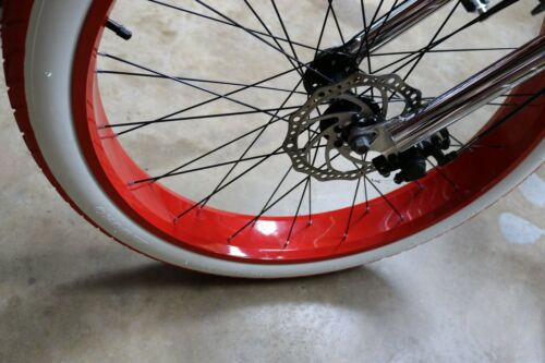 "WW Tires//Tubes Beach Bum Cruiser Balloon Fat Bicycle Bike TWO DURO 26/""x3/"" Red"