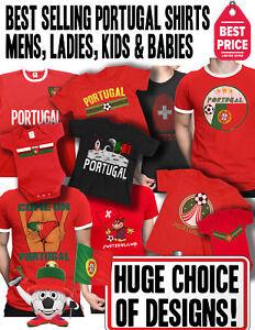 Portugal-patriotique-Fan-Kit-T-shirt-Football-Choix-des-hommes-femmes-enfants-Baby-Grow