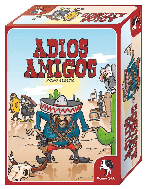 Pegasus Spiele 19000G Adios Amigos, Neu und OVP, Kartenspiel, ab 8 Jahre, RAR