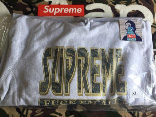 Supreme FW17 Paisley F*ck Em All Hooded Sweatshirt BOX LOGO HOODIE SNAKESKIN CDG