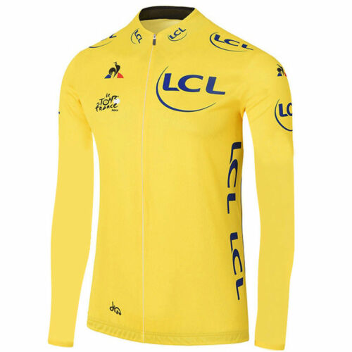 Mens Long Sleeve Cycling Jersey Mens Racing shirt for 2017 tour de france
