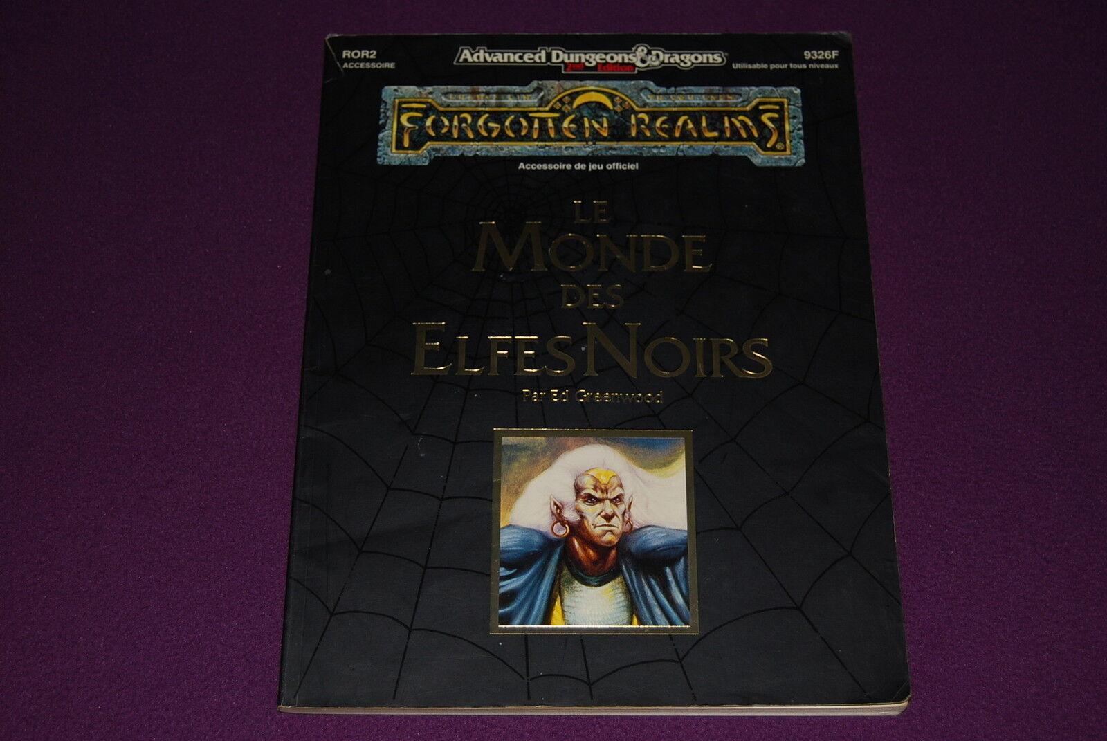 AD&D JDR Jeu de Role - Royaumes Oubliés   Le Monde des Elfes blacks (ROR2)