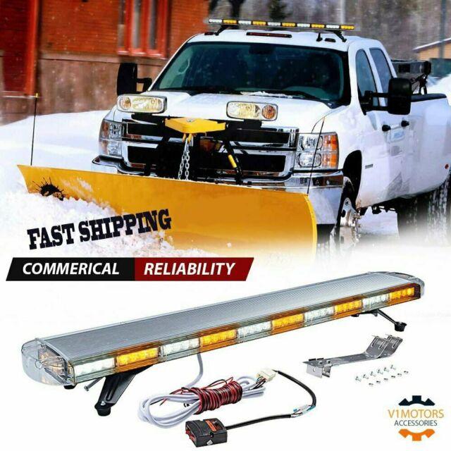 """88 LED 47/"""" Light Bar Emergency Beacon Response Tow Truck Warn Strobe Amber White"""