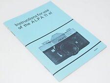 Vintage Alpa 11el  camera Instruction Book / Manual.  New Old Stock.