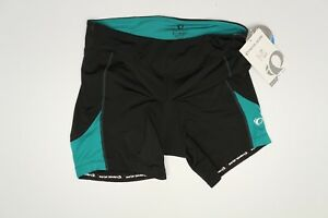 Pearl-Izumi-Womens-Select-Sugar-Short-XL-Black-Teal-Triathlon-Cycling-11211314
