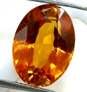 7.55 Ct Natural Orange Sapphire Oval Cut AGSL Certified Loose Gemstone