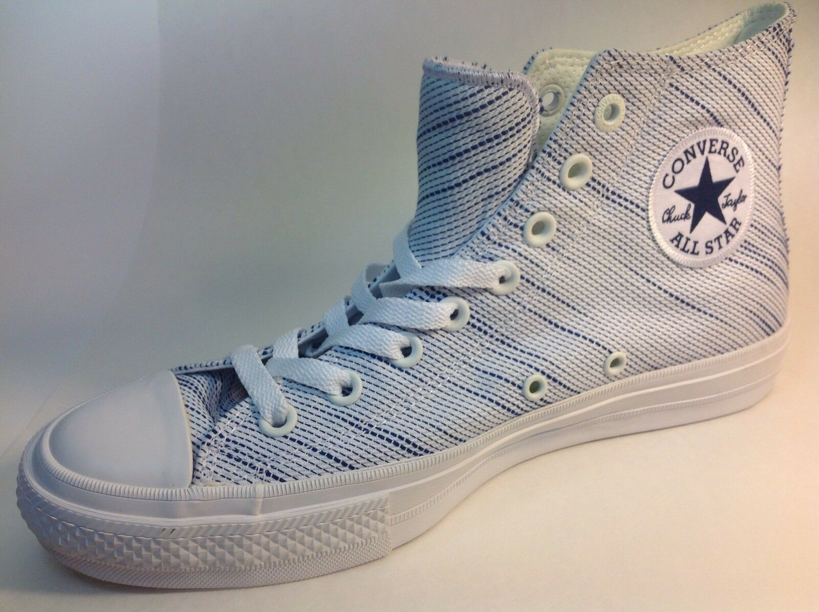 Converse, 151085C, Hi White, Chuck Taylor, All Star, Blue, Size 7.5 Womens Shoes