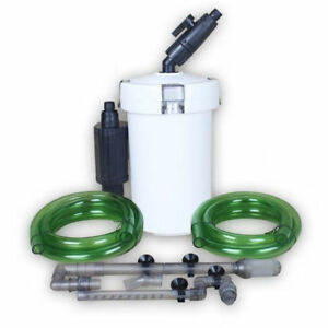 Aquarium-Aussenfilter-400l-h-3Stufen-Filtermaterial-Aquairum-Filter-fuer-Fish-Tank