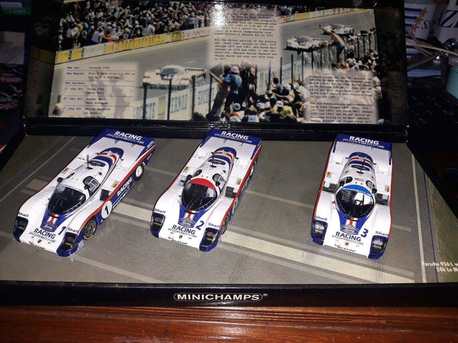 Minichamps 1 43 Porsche 956 set Winner Le Mans 1982