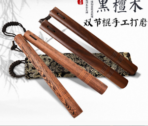 28cm Chinese Kung fu Wooden Nunchuck Training Toy Martial Nunchaku Durable Bag !