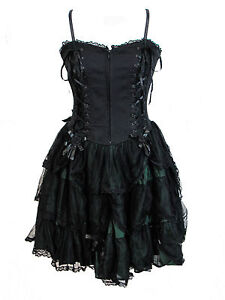 dark star satin lace black  green layered gothic rose