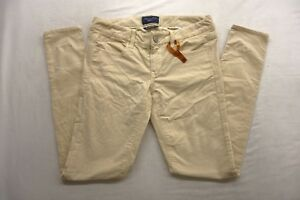 New-American-Eagle-Womens-2097-Light-Beige-Jegging-Stretch-Corduroy-Pants-4-Reg