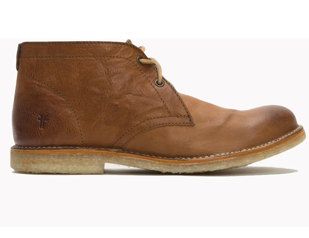 470 Authentic Rare FRYE Men's Hudson Chukka Leather Cognac Smooth Boot