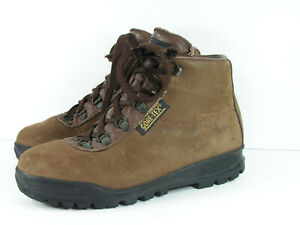 Details about vasque hiking boots womens 7 M brown leather ankle lace up  vintage made in italy