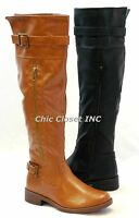 NEW Women Faux Leather Riding Equestrian Over Knee High Fashion Western Boots