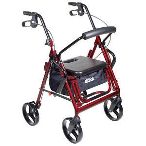 Duet Transport Chair Wheelchair Rollator Walker 2 In 1