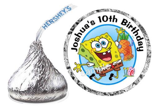 216 SPONGEBOB BIRTHDAY PARTY FAVORS HERSHEY KISS KISSES LABELS