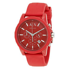 Armani Exchange Chronograph Red Dial Mens Watch AX1328