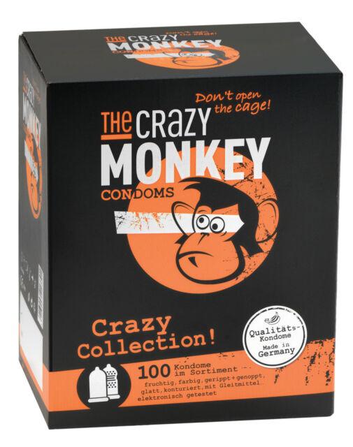 THE CRAZY MONKEY Condoms Crazy Collection 100 St.