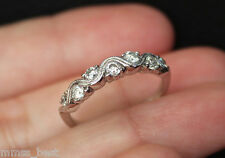 New Kay Jewelers S7 14K 1/2ct Diamond Vintage Wedding Band Ring White Gold