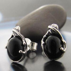 Onyx-Silber-925-Ohrringe-Damen-Schmuck-Sterlingsilber-S176